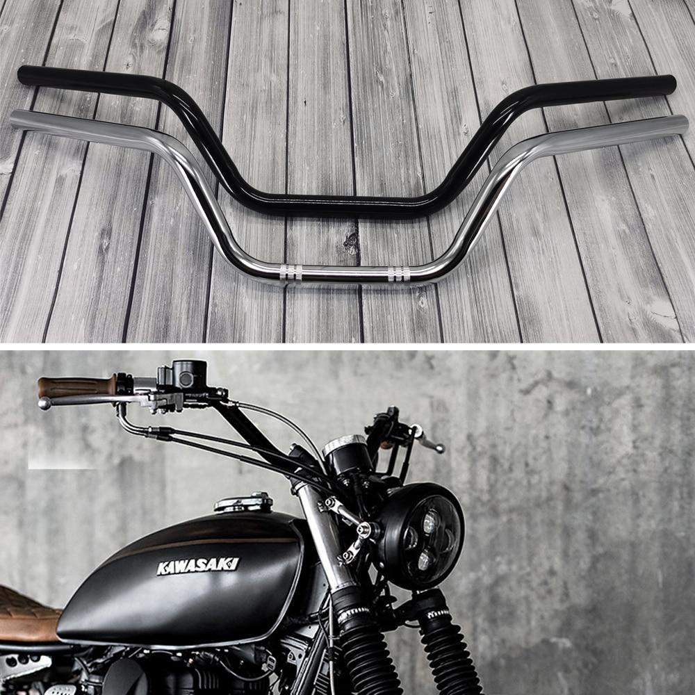 Manillar Retro para motocicleta 22mm 7/8 volante clásico para Royal Enfield Bobber, Chopper, Cruiser Scooter Handle Bar