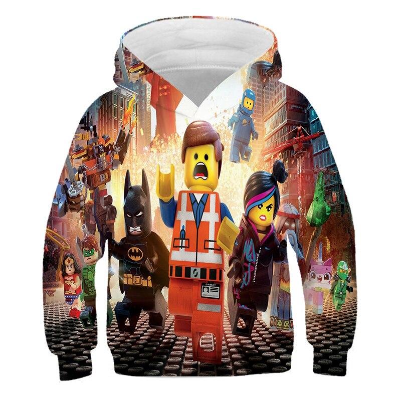 4-14 Years Baby Girl Hoodie Boys Sweatshirt The streets of harajuku Ninjagoes Hoodies Legoes Clothes Cartoon Children Jumpers 5
