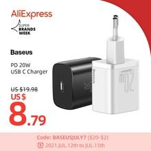 Baseus PD 20W 빠른 충전 QC3.0 QC USB 유형 C 아이폰 12 프로 삼성 Xiaomi 벽 휴대 전화 충전기