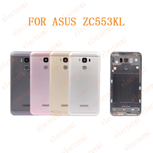 10PCS Electermi Original Real Back Housing For ZENFONE 3 Max Back Cover Battery Door ZC553KL With Power Volume Buttons For AS US