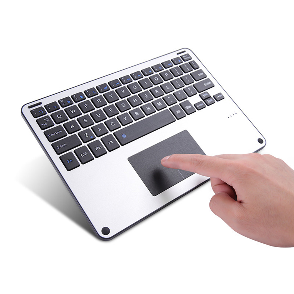Universal Touchpad Keyboard for Windows Mac Android Ios Bluetooth Aluminum Alloy Wireless Keyboard for All Tablet Keyboard image