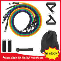 in stock!11pcs/set Pull Rope Resistance Bands Stretch Fitness Exercises Latex Tubes Pedal Excerciser Body Training Workout Yog