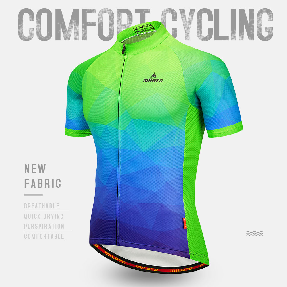 Miloto Men/'s Cycling Jersey Set Road Bike Clothing Shirt Padded Shorts Kit S-5XL