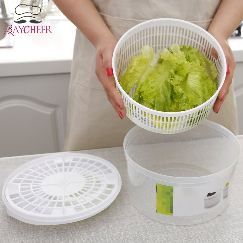 1Pcs Salad Spinner Quick Vegetables Dryer Drain Lettuce Vegetable for Home Kitchen with Pouring Spout Tools Kitchen Tools image