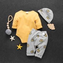 Baby Kids 3pcs Set Clothes Lion Print Outfits