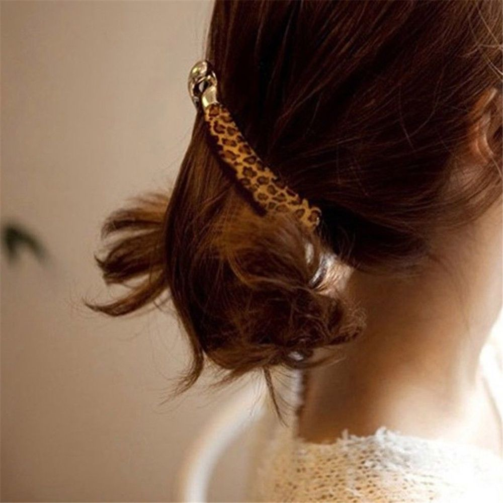 Special Section 1pc Women Sexy Leopard Banana Large Hair Crab Clip Acrylic Barrette Ponytail Hair Claw Clamp Gold Hairpin Daily Hair Accessories Fashionable(In) Style;