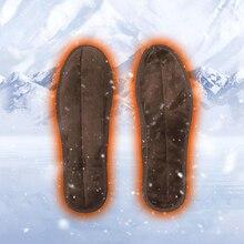 Унисекс usb зарядка Электрический Подогрев стельки для обуви зима теплее ноги отопление стельки сапоги перезаряжаемые Нагреватель Колодки подошвы