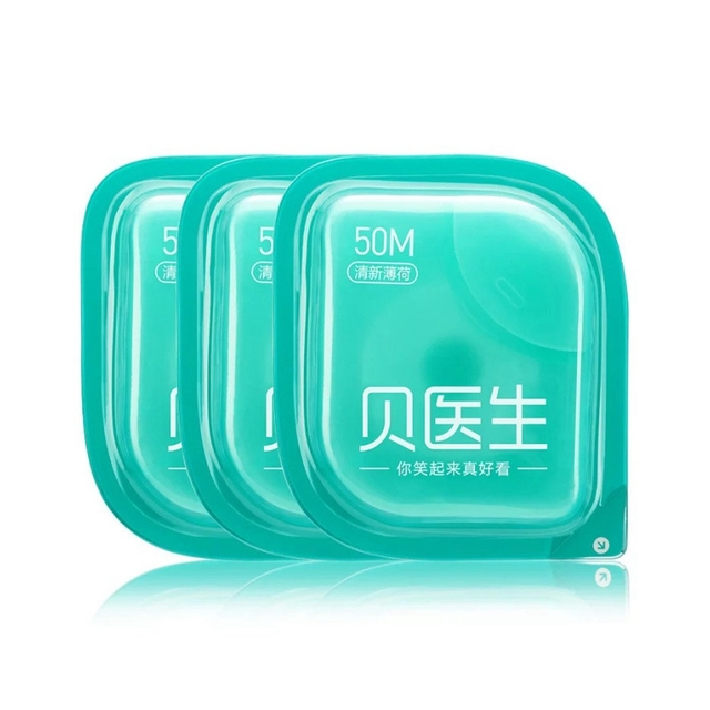 DR. Bei Dental Floss Portable Picks Teeth Toothpicks Stick Oral Care Travel Dental Flosser 50m Roll for Family Xaomi Xiami Xiomi