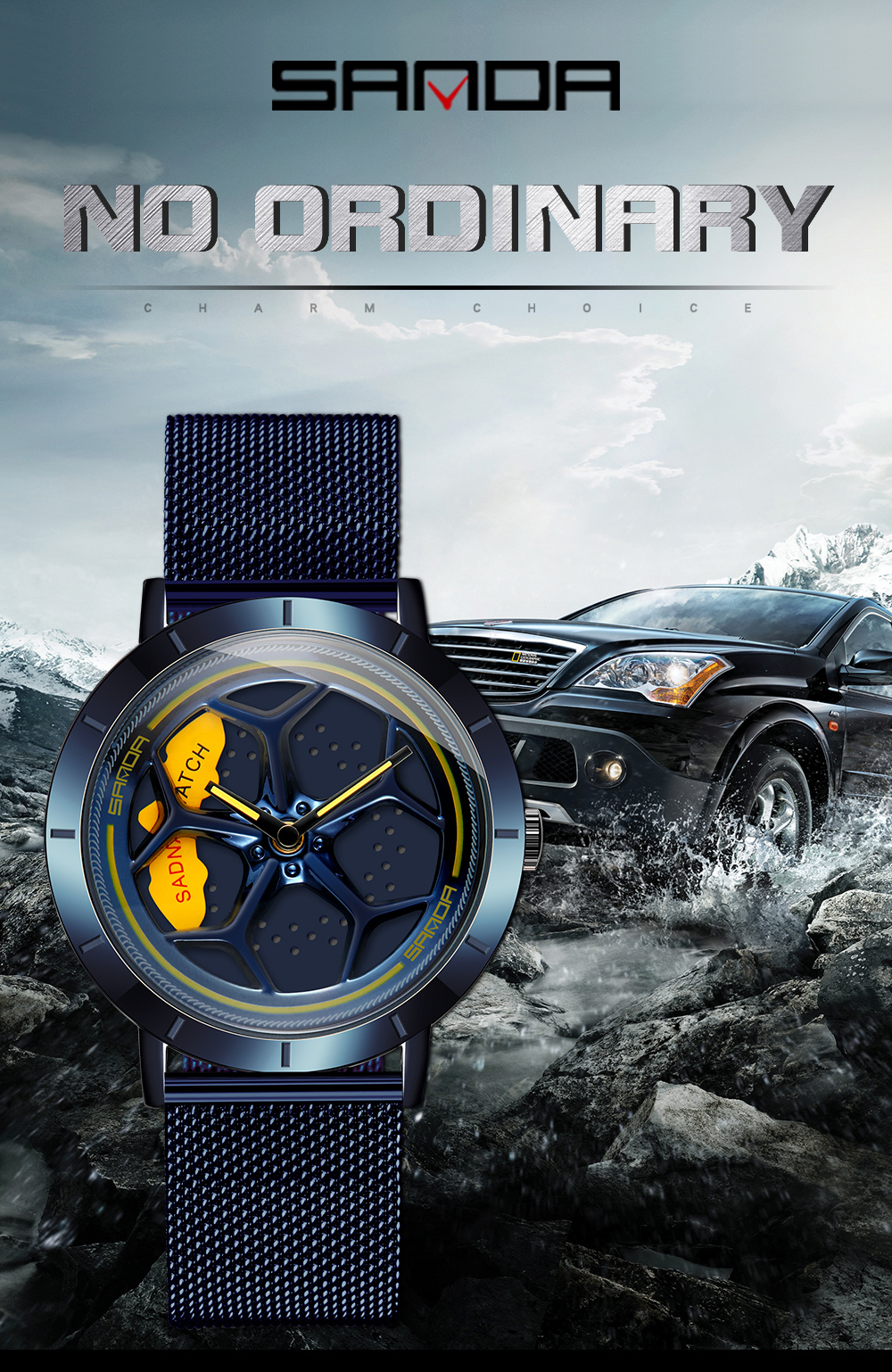 H4a7803e253dc445c86a95312a3e3ca88q Men's Watch 360 Degree Wheel Rotation Creative Quartz