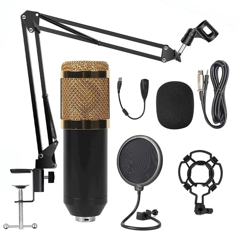 микрофон Профессиональный микровой BM-800 конденсаторный микрофон bm 800 караоке bm 800 Запись микрофон pc Mic комплект для компьютера YouTube