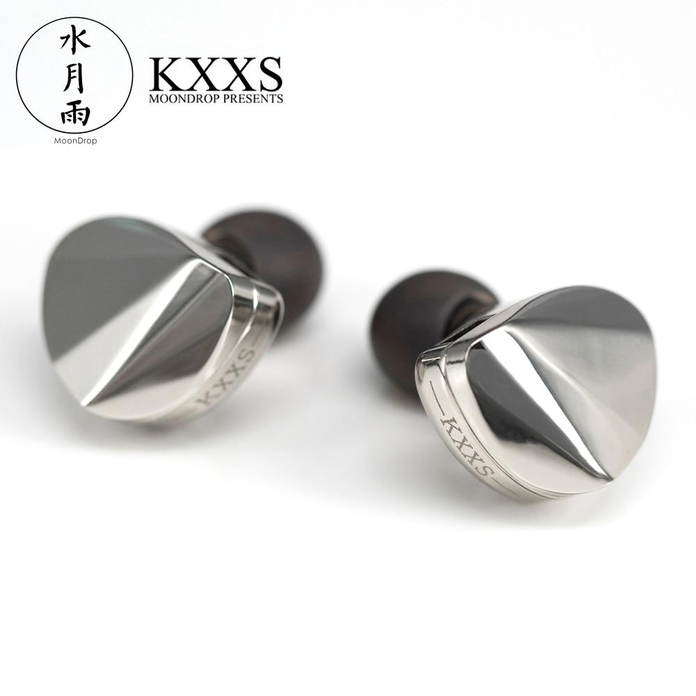 Moondrop KXXS Diamond Like Carbon Diaphragm Dynamic HIFI In Ear Earphone Monitor Stage IEM Earbud Plating Metal Detachable 2Pin 1