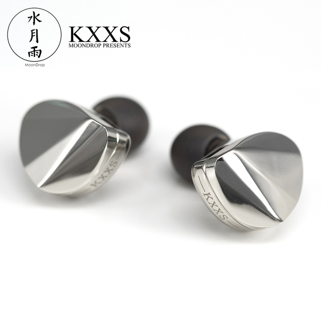 Moondrop KXXS Diamond Like Carbon Diaphragm Dynamic HIFI In Ear Earphone Monitor Stage IEM Earbud Plating Metal Detachable 2Pin 1