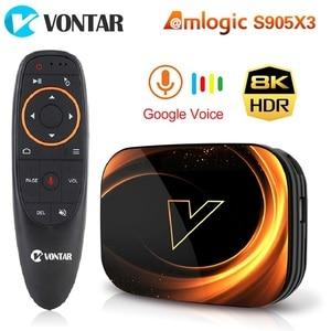 VONTAR X3 4GB 128GB 8K Smart Android 9.0 TV BOX Android 9 Amlogic S905X3 Wifi 1080P 4K Google Player Set Top Box 4G 64G