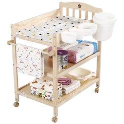 Kleine Muren Baby Luier Tafel Massief Hout Europese Pijnloos Grenen Milieu Touch Verpleging Massage Tafel Bad Receptie Tafel