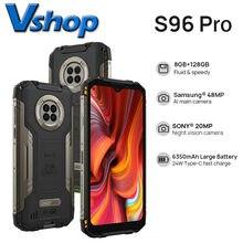Versão global doogee s96 pro ip68 à prova dip68 água smartphone 8gb 128gb 48mp redonda quad câmera 6350mah sem fio carga nfc celular