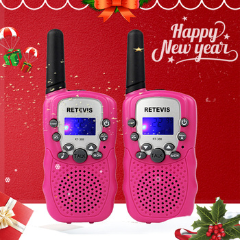 PC Material Pink Retevis RT388 Walkie Talkie Children Rechargeable 2pcs Toy Girl 6 Years Birthday Gift Battery - discount item  20% OFF Walkie Talkie