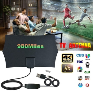 Image 5 - 980 миль 4K цифровая HD ТВ комнатная ТВ антенна с усилителем сигнала Усилитель ТВ радиус серфинг лиса антенна HD ТВ антенны антенна