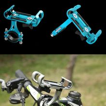 цена на Aluminum Alloy Bicycle Phone Holder Universal Motorcycle GPS Cellphone Support Bike Handlebar Mount Stand Bracket