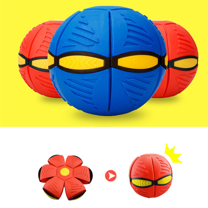 Hot Deformed Flying Saucer Balls Outdoor Training Ball For Child Magic Vent Ball Sports Toys
