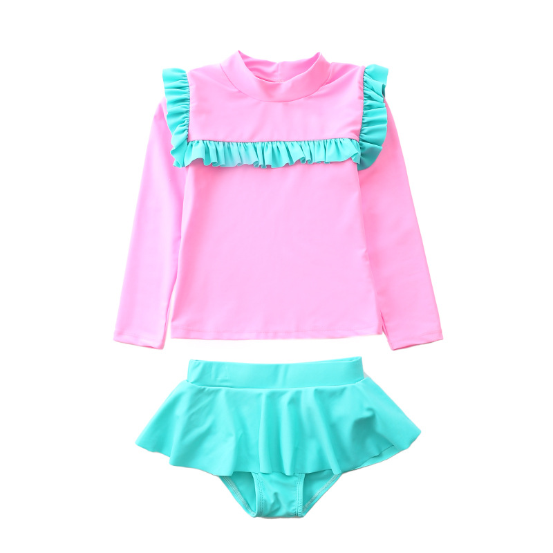 Girl'S Swimsuit One-piece 2019 New Style South Korea Bathing Suit Baby Girls Little Girl Conservative Hot Springs Split Type Swi