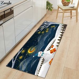 Zeegle Carpet Kitchen Rug Bathroom Doormat Non-slip Living Room Carpet Washable Hallway Floor Rug Absorbent Bedside Carpet Mat
