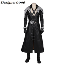 Game cosplay Final Fantasy VII Remake Sephiroth Cosplay Costume Halloween from Man Anime Cos Adult Black