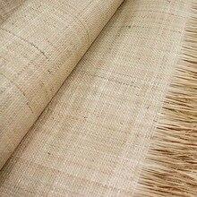 58-100 см натуральный с перекрестными шнурками из волокна «раффия» коврик ручной работы Материал DIY соломы прокладки мебель стол стул ручка дл...