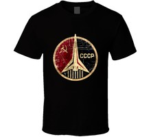 Russian Soviet CCCP USSR Space Program Logo Retro T Shirt Gift New From US(China)