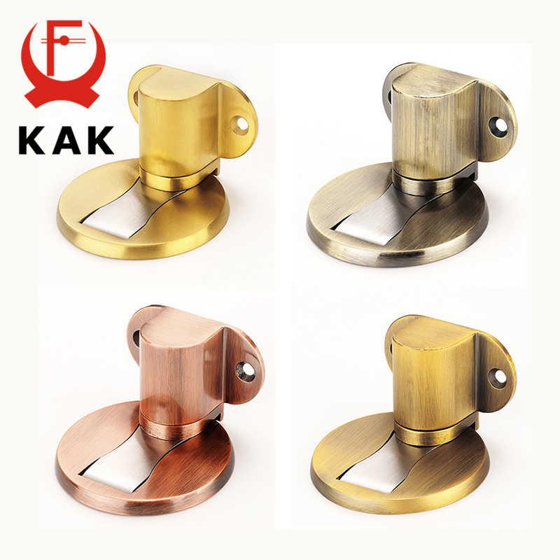 Soporte de puerta ajustable KAK Tope de puerta magnético de acero inoxidable adhesivo sin perforación Tope de puerta equipo para puerta de mobiliario resistente al agua