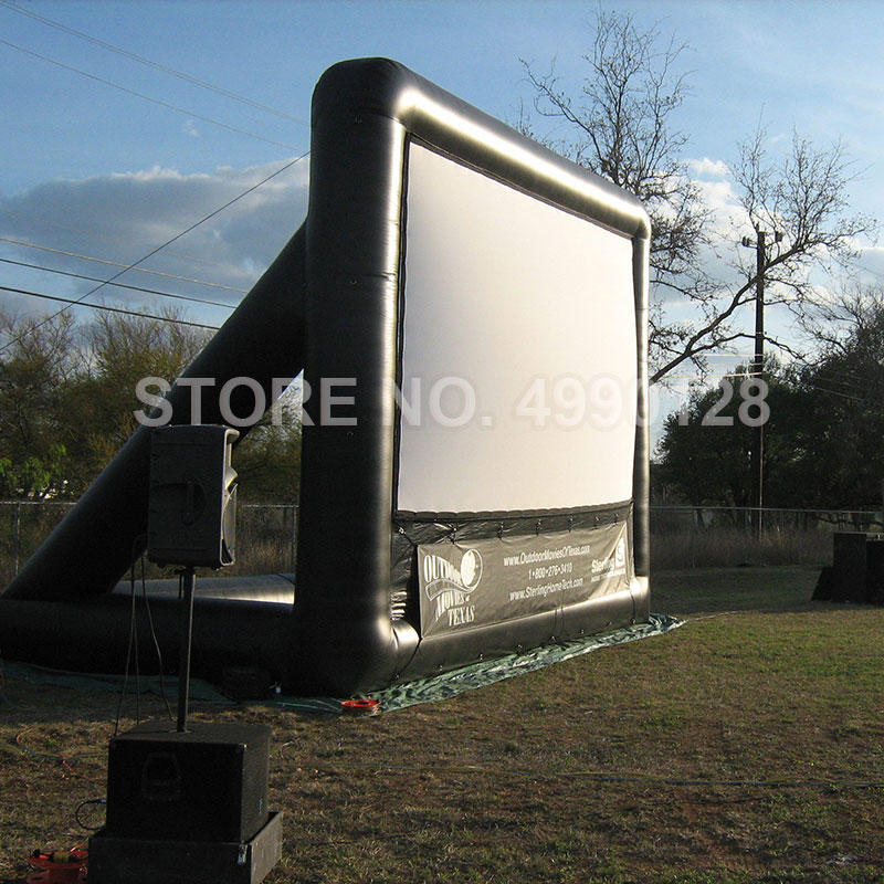 Inflatable Movie Screen 4M 6M 7M Projector Projection Movie Cinema Screen for Home Party Backyard Stadium Park Outdoor