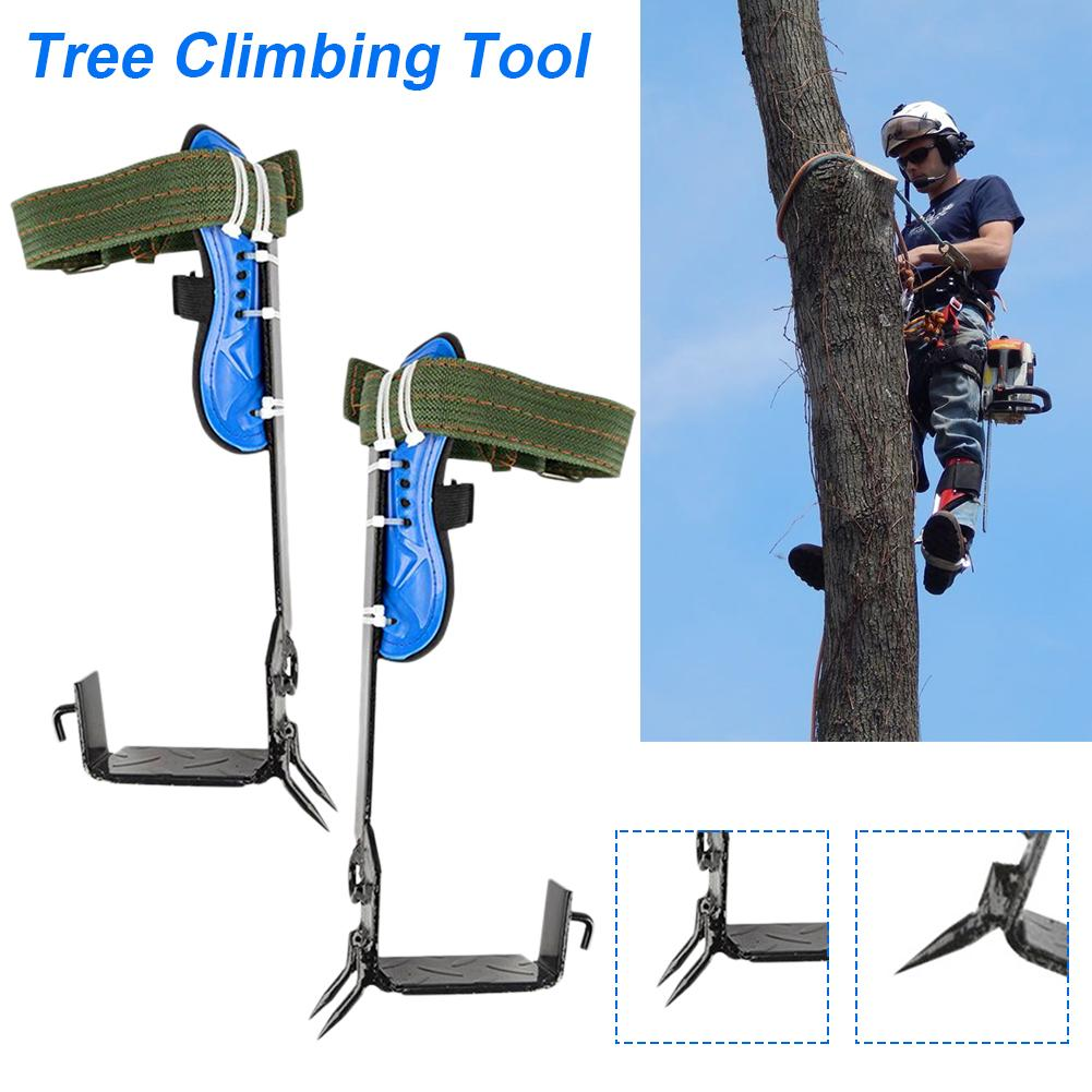 New Tree Climbing Safe Tool Pole Climbing Spikes For Hunting Observation Picking Fruit 304 Stainless Steel Climbing Tree Shoes
