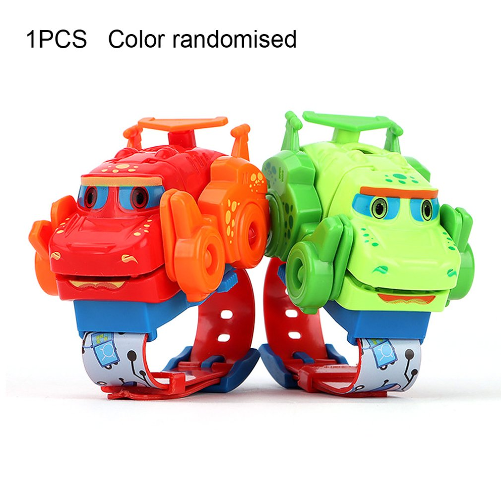 New Deformation Watch Dinosaur Toy Can Project Children's Cartoon Electronic Watch