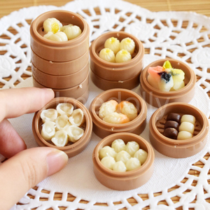 2PCS 1/6 Scale Miniature Chinese Dim Sum Dollhouse Pretend Food for Doll house Kitchen for Barbies Blyth Bjd Doll for Kids(China)
