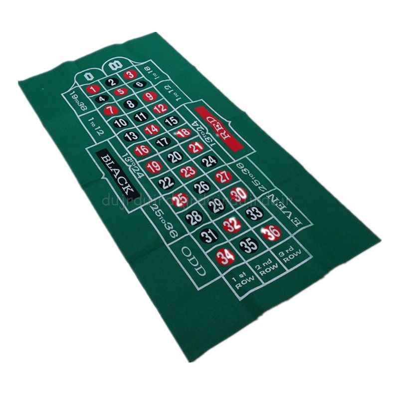 Double-sided Game Tablecloth Russian Roulette & Blackjack Gambling Table Mat J07 20 Dropship