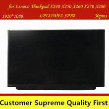 ЖК-экран с FHD IPS, для Lenovo Thinkpad X240 X250 X260 X270 X280, LP125WF2 SPB2 LP125WF2(SP)(B2), подходит для Lenovo Thinkpad X240 X250 X260 X270 X280, с FRU 00HM745