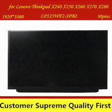 Pantalla LCD IPS LP125WF2 SPB2 LP125WF2 SPB2 LP125WF2(SP)(B2) apta para Lenovo Thinkpad X240 X250 X260 X270 X280 FHD con FRU 00HM745Pantalla LCD de portátil