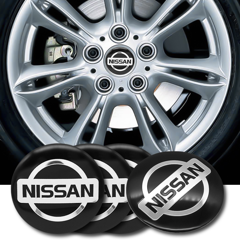 4pcs 56mm Car Wheel Center Hub Cap Cover Sticker Rim Emblem Badge Fit For NISSAN Qashqai J10 J11 Juke Note Leaf X Trail T31 T32