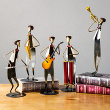Vintage Home Decor American Style Home Decoration Accessories Music Band Furnishings Miniature Figurines Office Desk Decoration