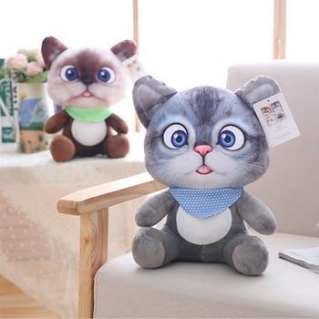 NEW Disney Animal Cartoon Dolls Pillow Cushion Mini Cute Cat Plush Stuffed Toys Christmas Birthyday Gifts for kids