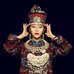 9 Ontwerpen Antieke Oude-Verwerkt Handgemaakte Etnische Mode Miao Zilver Haar Tiara Bloem Hoed Voor Stage Performance Of Fotografie