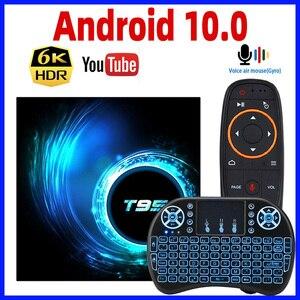 Image 1 - 2020 Android 10 TV Box T95 Smart TVBox Android Box Max RAM 4GB ROM 64GB Allwinner H616 Quad core TV Box 4K Truyền Thông Người Chơi GB RAM 16GB
