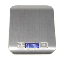5 10kg Household Kitchen Scale Electronic Food Scales Diet Scales Measuring Tool Slim LCD Digital Electronic Weighing Scale XNC cheap Rectangle JJ02135 LED Display Stainless Steel Battery 0 01g