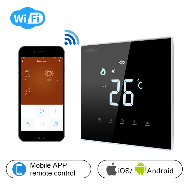 AE-XB-D Touch Screen LCD Temperature Regulator Electric Heating, Water Heating WIFI Thermostat APP Control Temperature