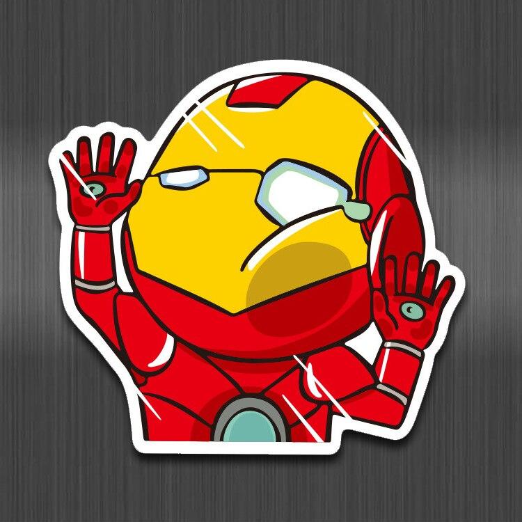 Engraçado dos desenhos animados Personagem de Super Herói Avengers Ironman Adesivos À Prova D' Água Adesivo Laptop Skate Crianças Carro Adesivos de Moto