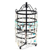 144 Holes Metal Jewelry Rack Necklace Holder Organizer Rotary Display Stand jewelry organizer/rangement bijoux/jewelry display