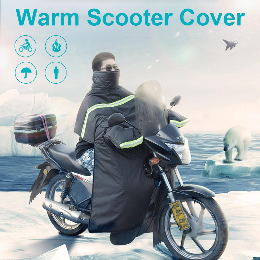 Windshield Motorcycle Velvet Cover Thick Waterproof Warm Knee Pads Leg Cover Universal For Scooter Leg Cover