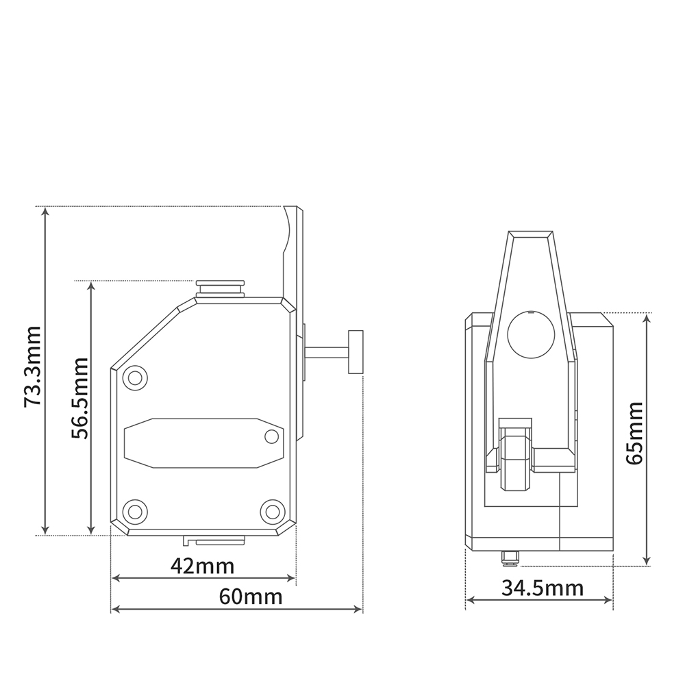 IsMyStore: 3D Printer mk8 Extruder BMG Cloned Btech Dual Drive Extruder Bowden Extruder Filament Dual Gear For Ender 3 PRO CR10 MK8 Reprap (BMG Extruder)