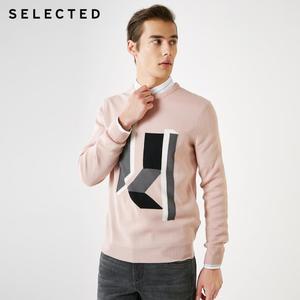 Image 2 - SELECTED 남성 모직 o 넥 컬러 스웨터 옷 긴팔 스웨터 니트 S