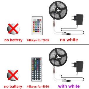 Image 3 - Riri Zal SMD5050 Rgb Led Strip Licht 5M 10M 30Leds/M Dc 12V Tape Lint diode Flexibele Waterdichte 44 Toetsen Controller Adapter Set