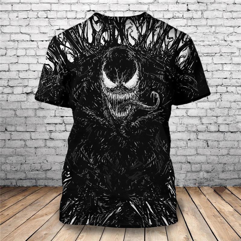 Camiseta de manga corta única con estampado de Venom 3D de diseño personalizado nueva moda 2019 KYSZDL gran oferta alta calidad Natural granate pulsera moda mujer cristal joya pulsera para regalos